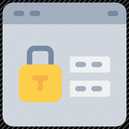 login, online, padlock, password, secure, security icon