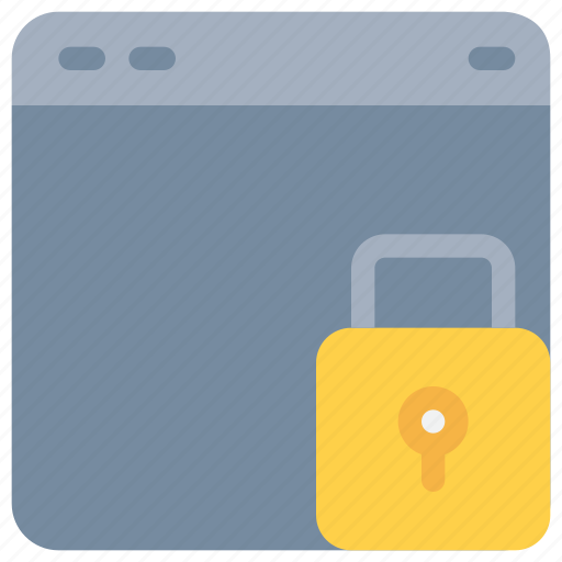 internet, padlock, secure, security icon