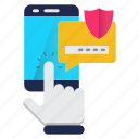communication, mobile, protection, security, smartphone icon