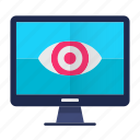 eye, eye print, monitoring, safety, screen, security icon