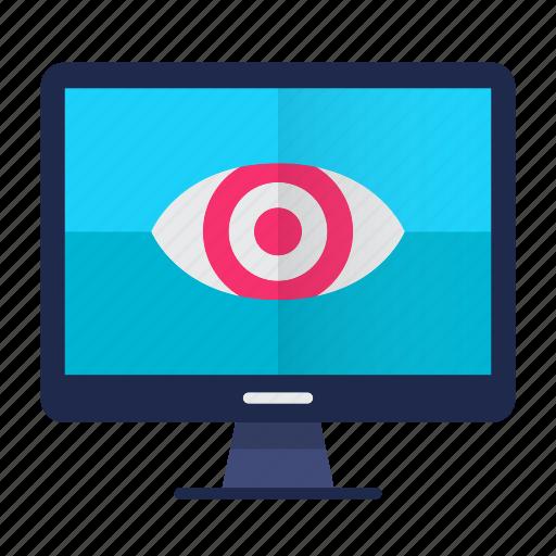 eye, eye print, monitoring, safety, screen, security icon