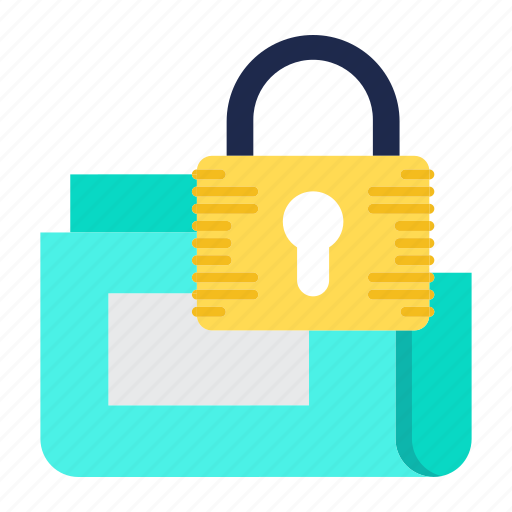 data, folder, protection, secure, security, storage icon