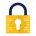 locked, padlock, protect, safety, security icon