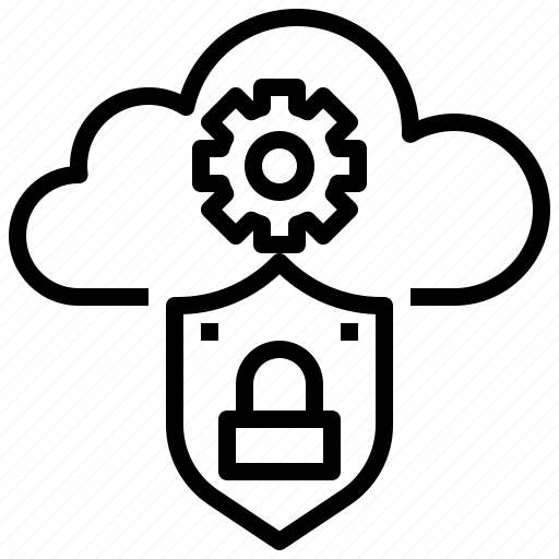 closed, cloud, internet, lock, padlock, protection, security icon