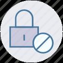 ban, lock, locked, padlock, security icon