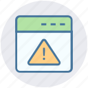 internet page, warning, warning page, web page, web site, website icon