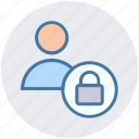 lock person, locked, man secure, secure, security, user icon