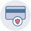 atm card, credit card, debit card, secure, security, shield icon