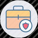 bag, bag lock, bag secure, brief case, locked, shield, suit case