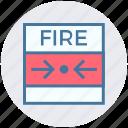 alarm, alert, alert button, bell, emergency, fire, press button icon