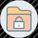 encryption, files, folder, lock, locked, safety, secured icon