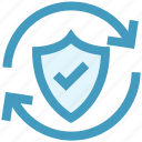 antivirus, firewall, protection shield, secure, security, shield, sync icon