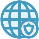 cyber security, globe protection, protect, security, shield, world globe