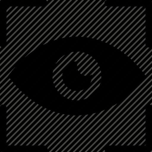 analysis, eye, eye focus, monitoring, target, vision icon icon