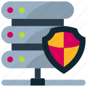 data, lock, protection, secure, server, shield, storage icon