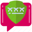 chat, communication, message, protection, secure, talk icon