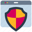 browser, internet, protection, secure, security, shield, web icon