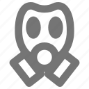 face, gas, head, mask, protection, safety icon
