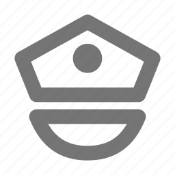 cap, hat, police icon