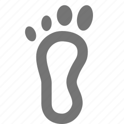 feet, foot, human, leg, print, trace icon