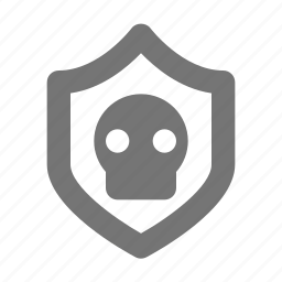 shield, skull icon