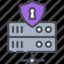 data, lock, padlock, protect, protection, server, storage
