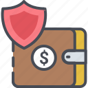 assets, insurance, lock, payment, privacy, protection, wallet icon