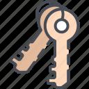access, accessibility, house keys, key, keys, security icon
