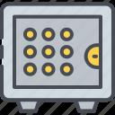 bank, deposit, locker, money, safe, security, vault