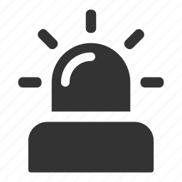 alarm, alert, danger, light, notification, security, warning icon