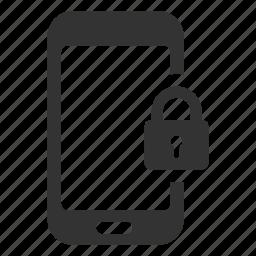device, lock, password, protection, security, smartphone, unlock icon