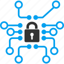 crypto system, cryptography, electronic lock, encryption, protection, secure, security icon