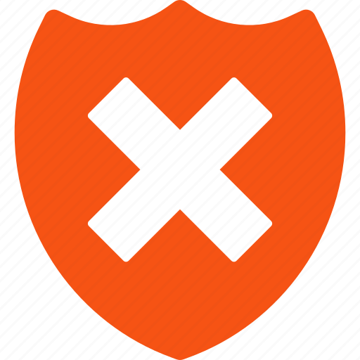 cancel, cross, fail security, failure, protection, secure, wrong icon