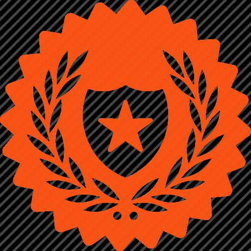 award, medal, prize, security, stamp, trophy, winner icon
