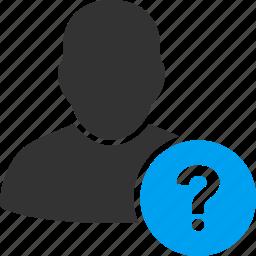 account, help, man, person, profile, user, user status icon