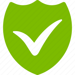 check, confirm, safety, security, success, valid shield, validation icon
