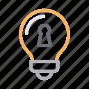 creative, idea, innovation, keyhole, lock