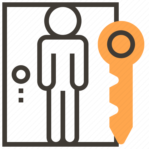 door, key, locked, privacy, protect, safety, security icon