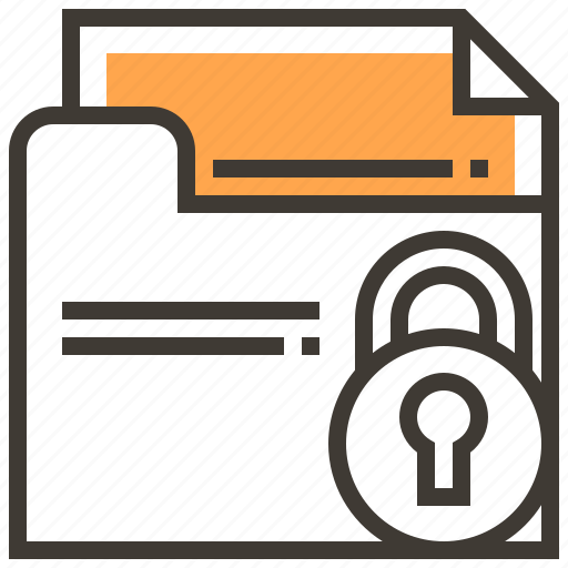 data, file, locked, privacy, protect, safety, security icon