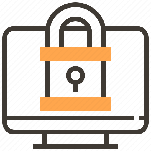 computer, locked, password, privacy, protect, safety, security icon