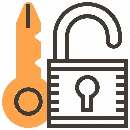 key, locked, privacy, protect, safety, security, unlock icon