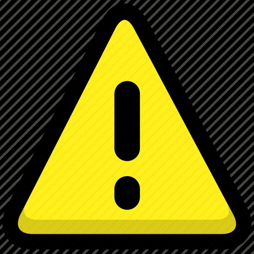 alarm, alert, danger, error, prompt, warning icon