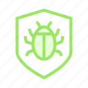 bug, protection, security, shield, virus icon