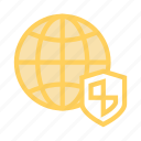globe, protection, security, shield, world
