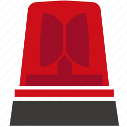 alarm, light, red, siren, warning icon