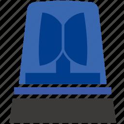 blue, light, police, siren icon