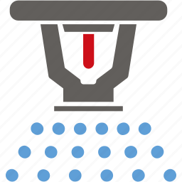 ceiling, extinguisher, fire, sprinkler, water icon