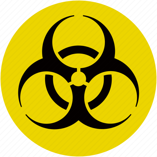 biological, contagious, hazard, infectious, poison, toxic, virus icon