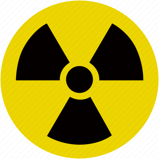 danger, energy, hazard, nuclear, radioactive, warning icon