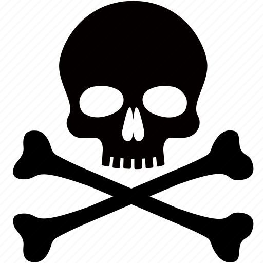 danger, death, piracy, pirate, poison, skull, toxic icon